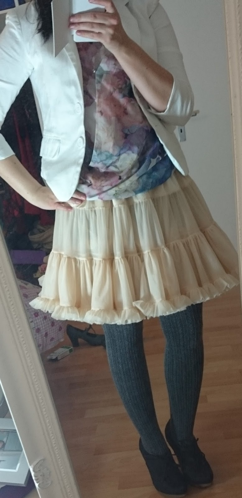Petticoat Pastell und Weiß