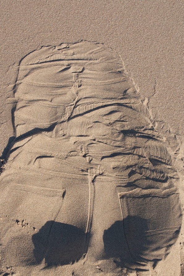 jeans in sand
