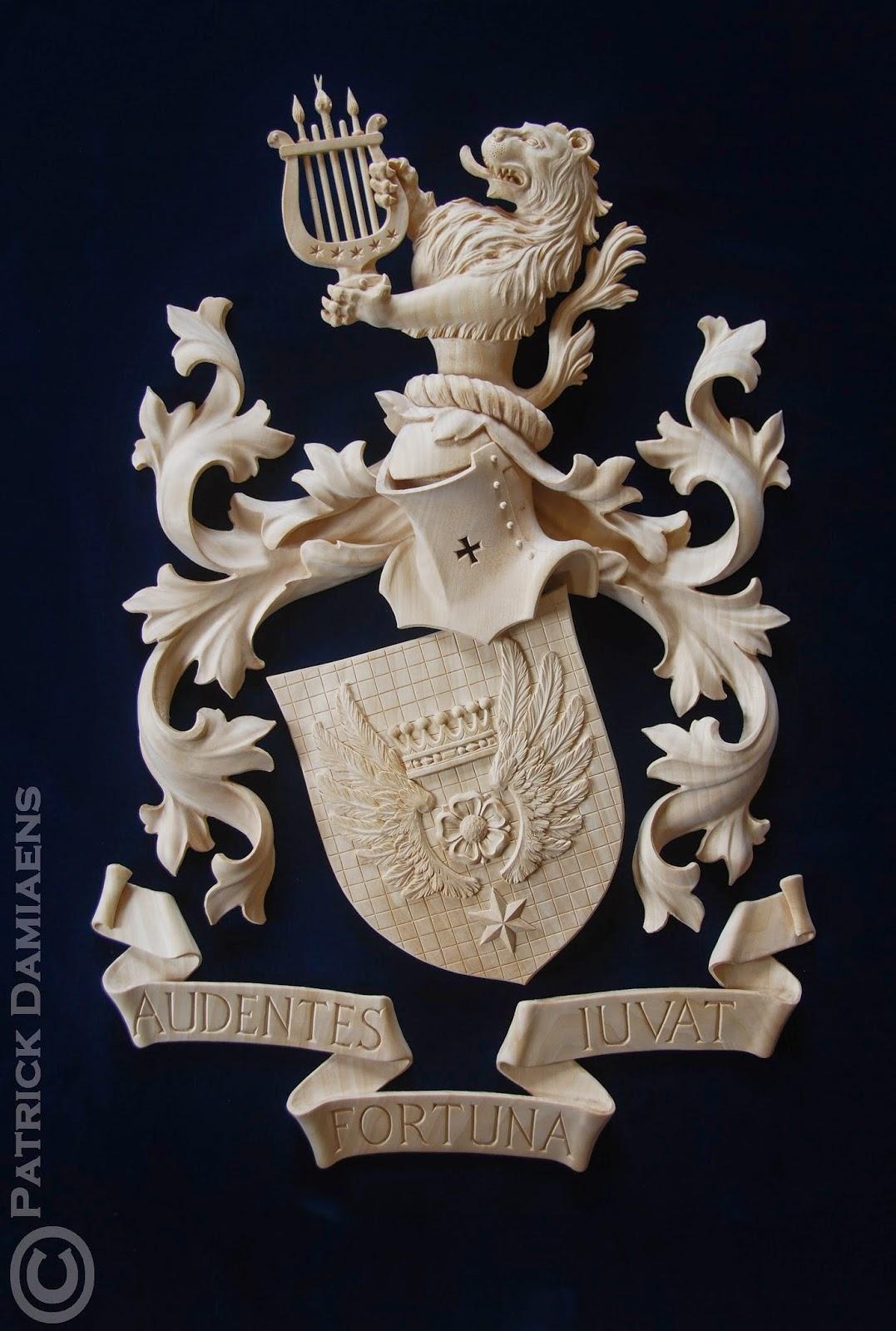 Ornamentsnijder - PATRICK DAMIAENS: Het Cornielje familiewapen in ...