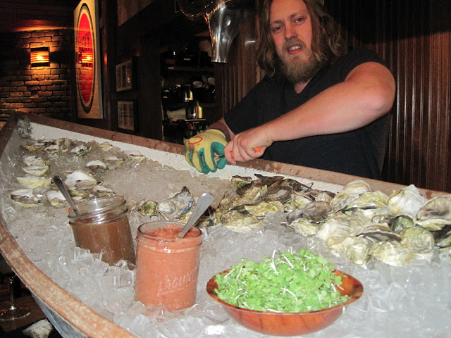 Shucking Fresh Oysters