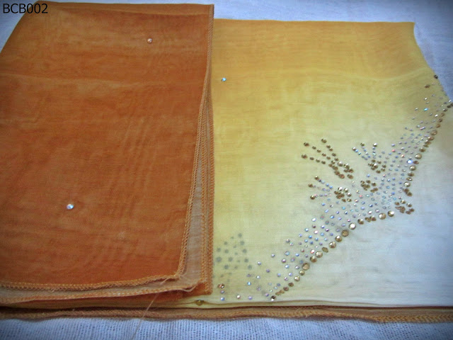 Tudung Bawal 3 Tone Crown Batu Kuning