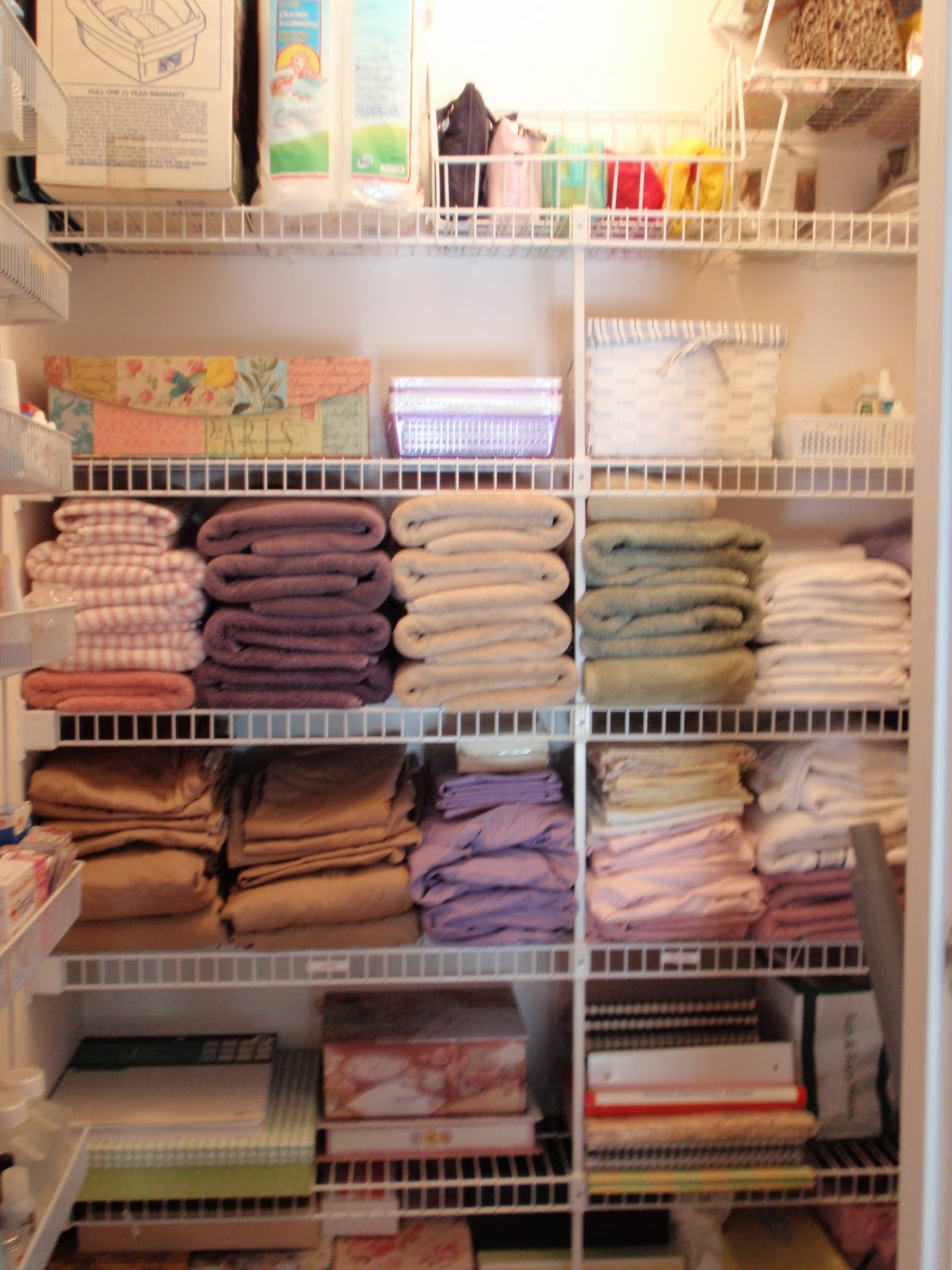 It Is So Much Nicer To Look At This Closet Now. My Kids Linens Are In My  Sonu0027s Bathroom Closet And Each Of Their Towels Are In Their Own Bathrooms.