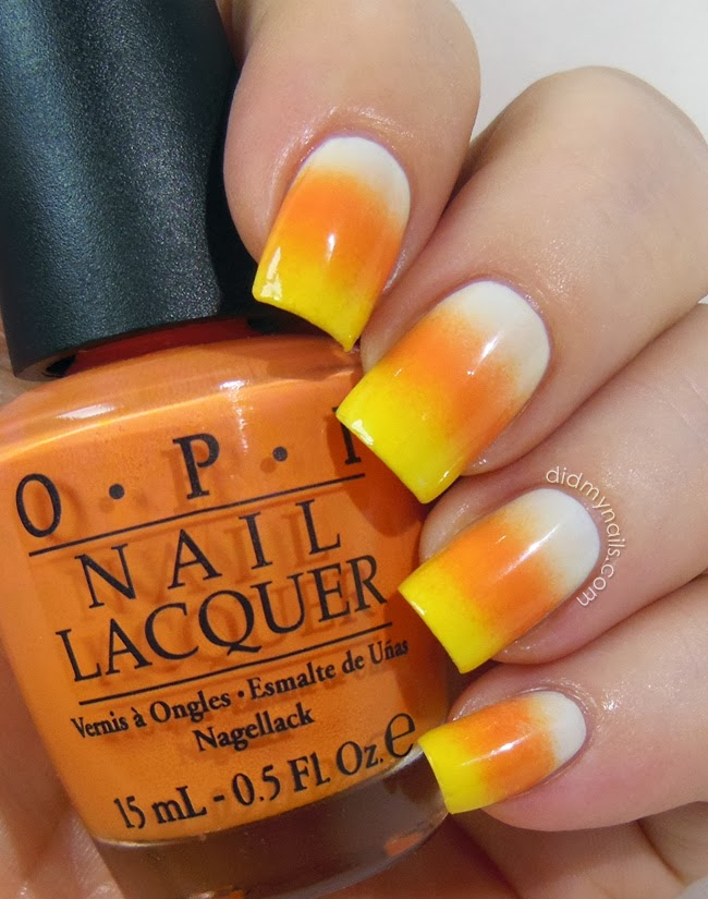 Candy Corn Grant Nails For
