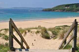 Playa Montalvo, Sanxenxo, Rías Bajas, Pontevedra, Galicia