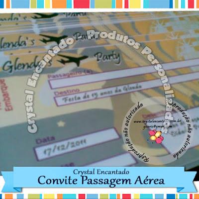 Convite 15 anos - Passagem Aérea