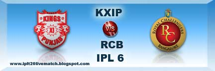 IPL 6 KXIP vs RCB Highlight Match Video and KXIP vs RCB Full Score cards