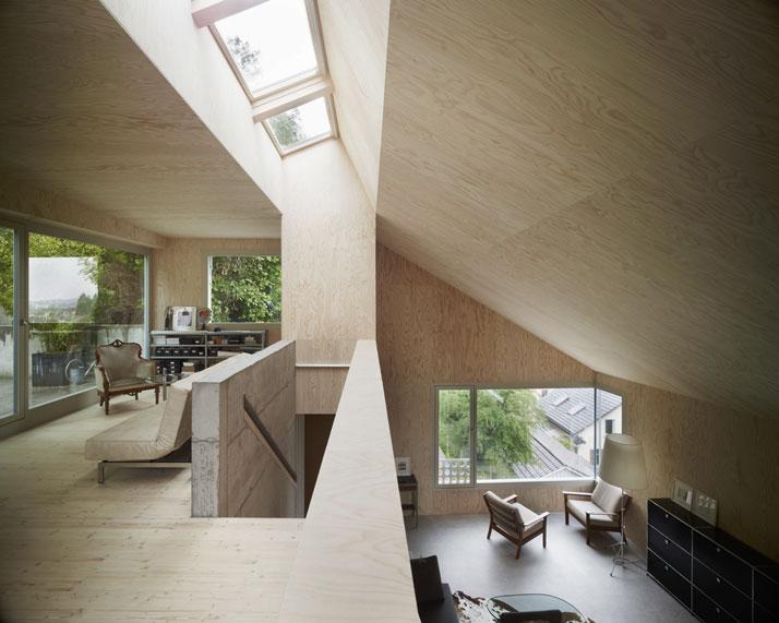 Scandinavian retreat single family house in zurich for Modern house zurich