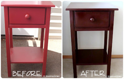 Spray paint an old table to look like new