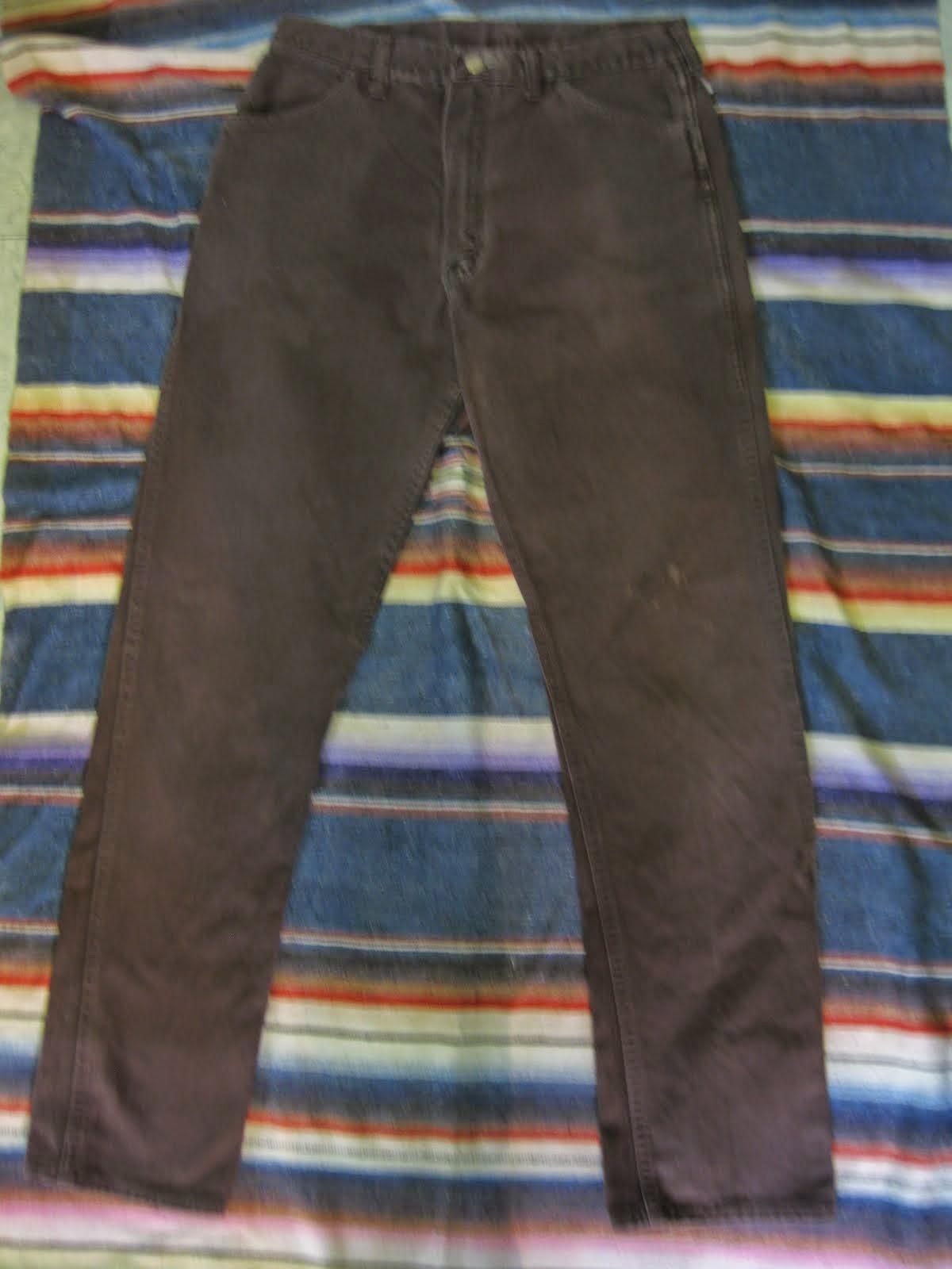 60's WRANGLER 14MWZ              SLIM FIT PANTS              BROWN カツラギ               SIZE:33×32