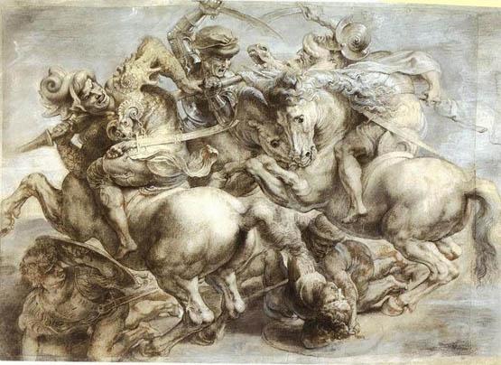 لوحة معركة انجياري