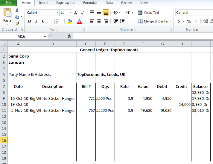 Simple Sales Ledger in Excel IV | The Happy Accountant