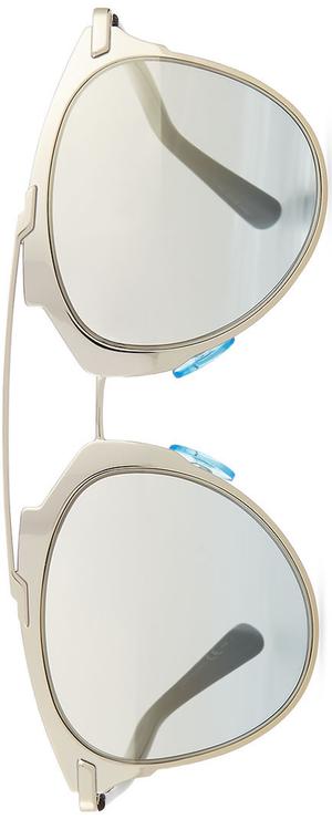 "Dior ""Dior Reflected"" Two-Tone Aviator Sunglasses, Pale Golden/Black"