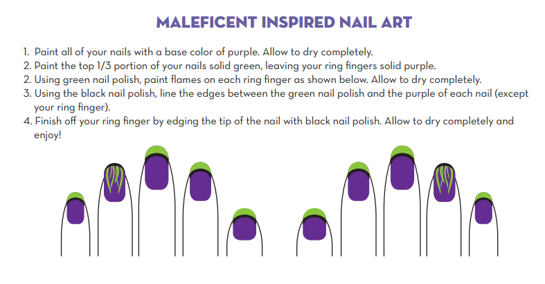Maleficent inspired nail art #Disneyside