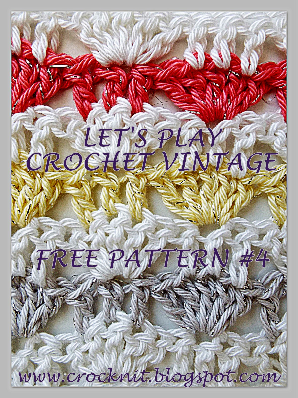 Crochet Stitch Rtrf : free crochet patterns, alternating shells, fans, how to crochet,