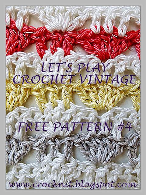 Crochet Stitch Rtrb : free crochet patterns, alternating shells, fans, how to crochet,