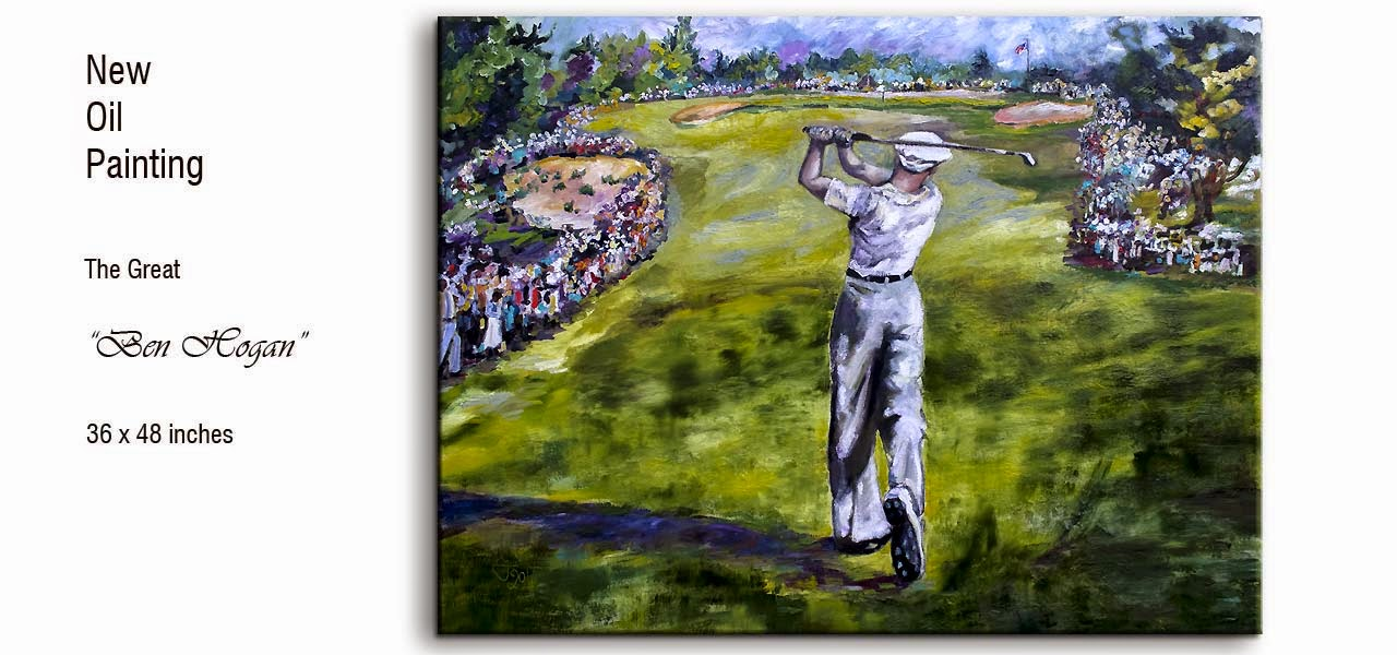 Ben Hogan Golf Painting