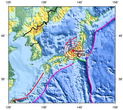 EASTERN HONSHU, JAPAN earthquake 2012 july 10