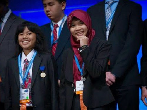 Muhtaza Aziziya Syafiq dan Anjani Rahma Putri. Intel Indonesia - Merdeka.com