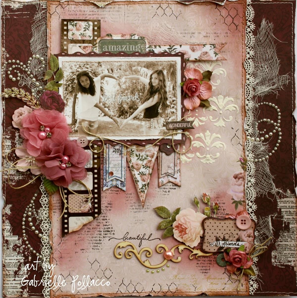 Best friend scrapbook ideas - Best Friends Bo Bunny S New Rose Cafe