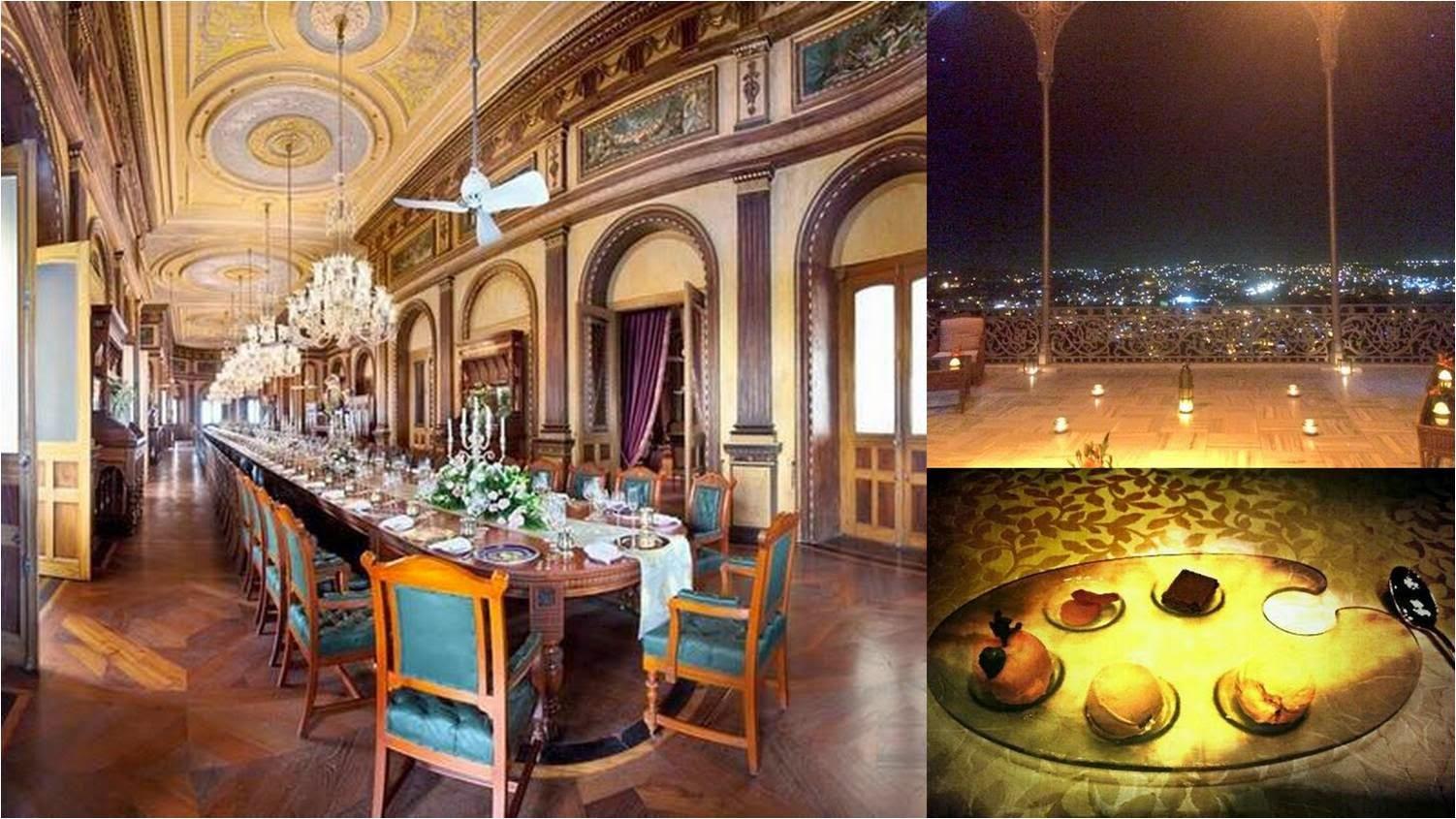 Dinning hall of Taj Falaknuma Palace
