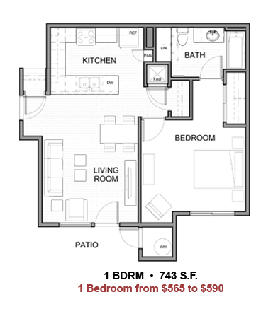 coral mountain apartments la quinta low income floor plan 1