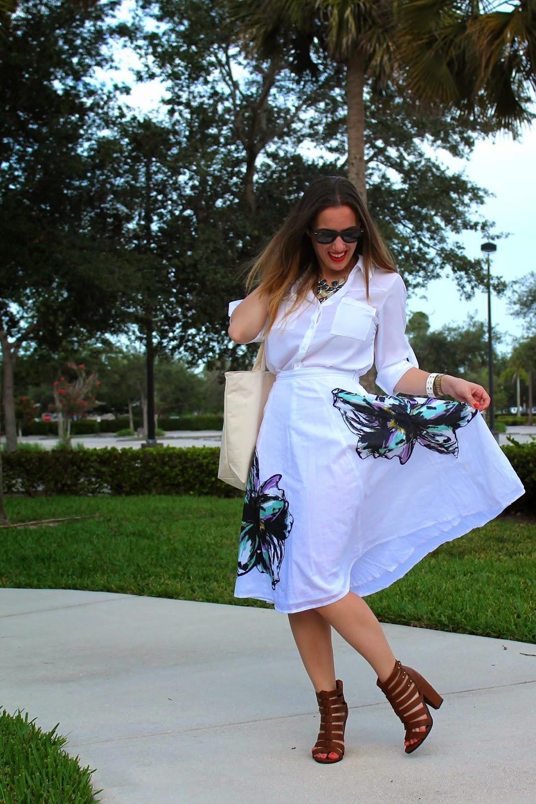 eShakti, Express, Steve Madden, Nordstrom, Timex, Forever 21, Ray-Ban, Gap, street style, fashion blog, what I wore, Miami fashion blogger, Miami style blog, summer whites