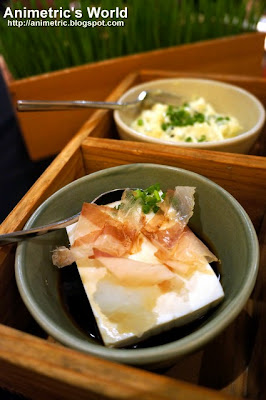 Hiyayakko Tofu and Potato Salad at Yabu The House of Katsu