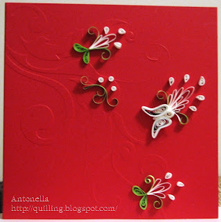 filigree quilling quilled christmas card