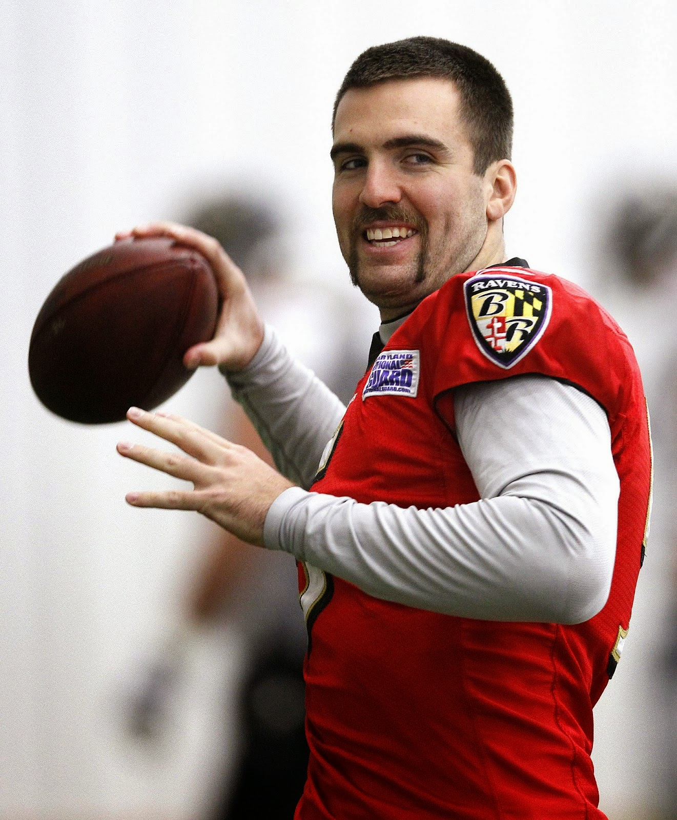 Joe Flacco with goatee