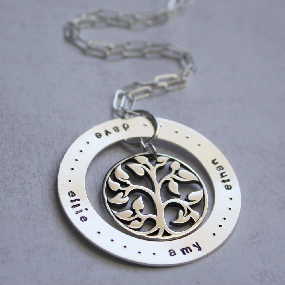 cornwell designs family tree circle of necklace