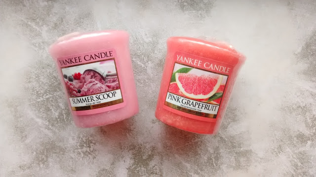 Summer Scoop and Pink Grapefruit Yankee Candles