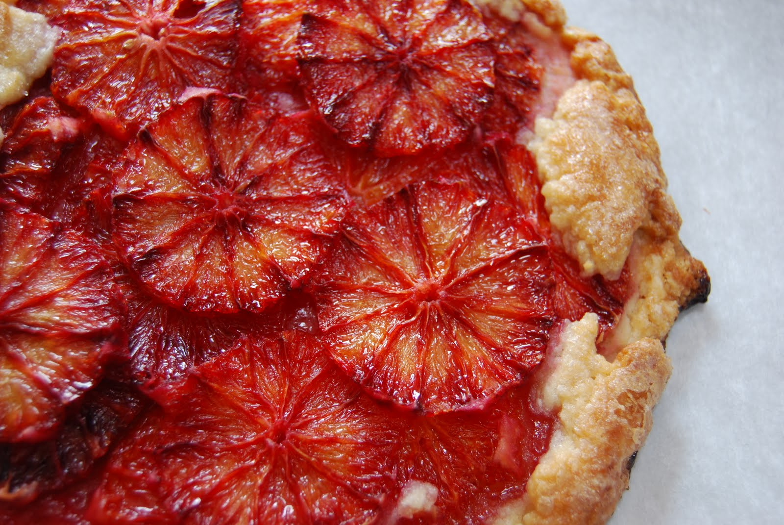 Flaky Blood Orange Tart - Macaroni and Cheesecake