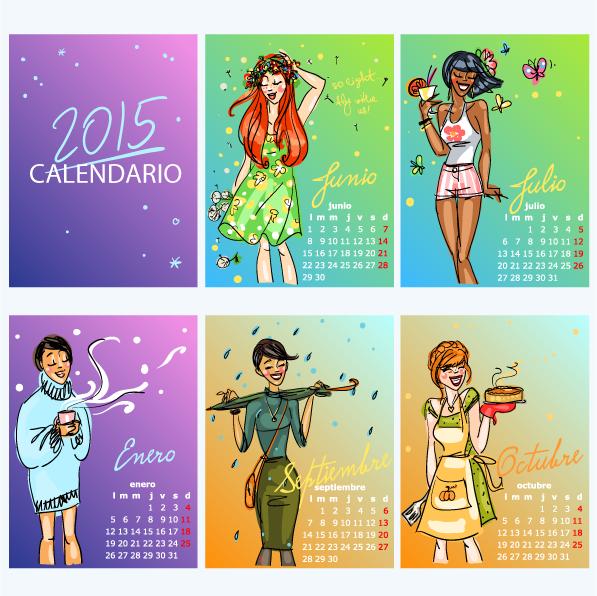 Calendario 4 estaciones en español