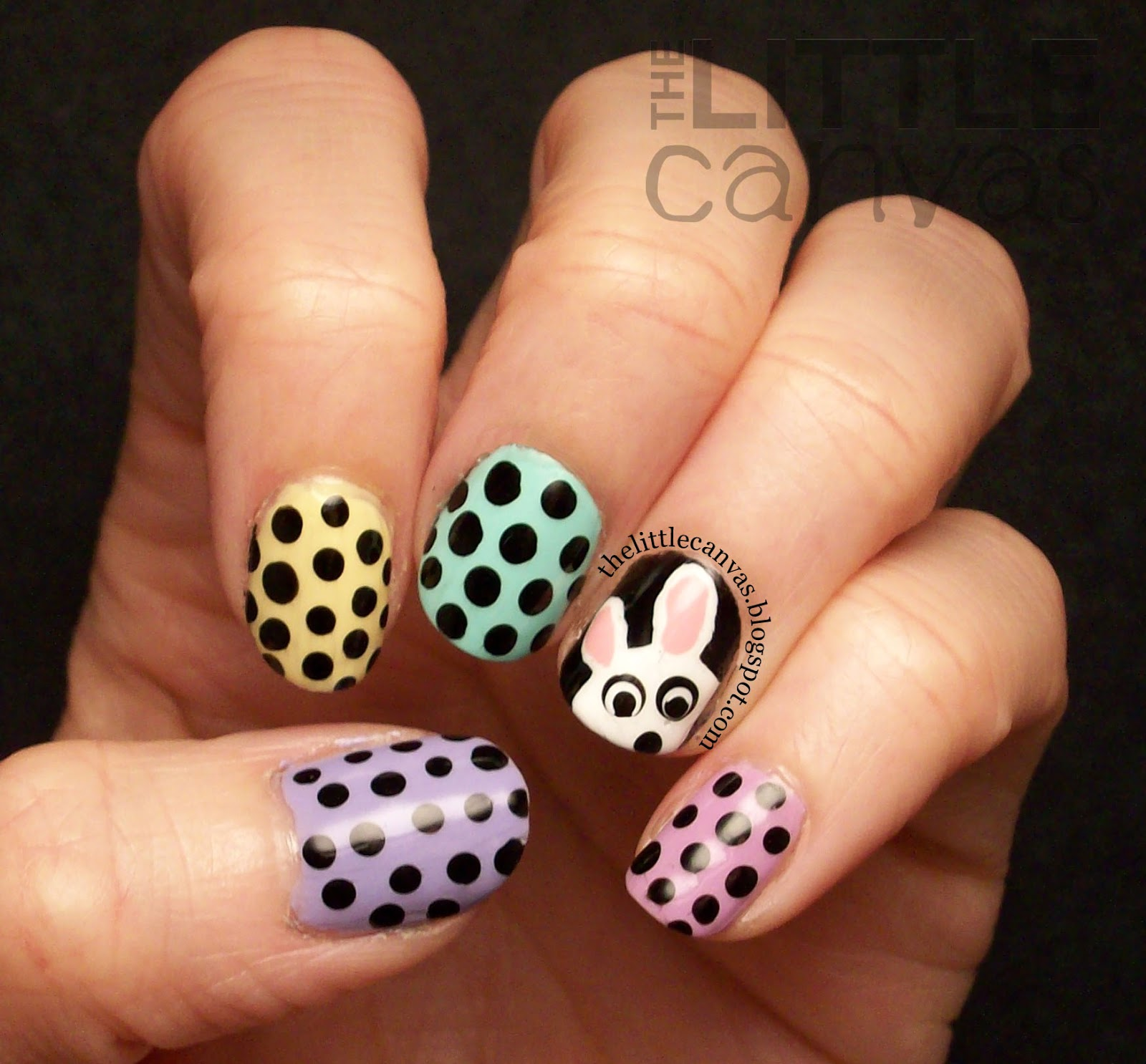 Easter Bunny Nails: A Semi Easter Manicure