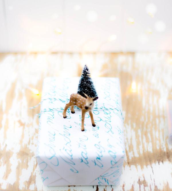 DIY Geschenkpapier für Weihnachten