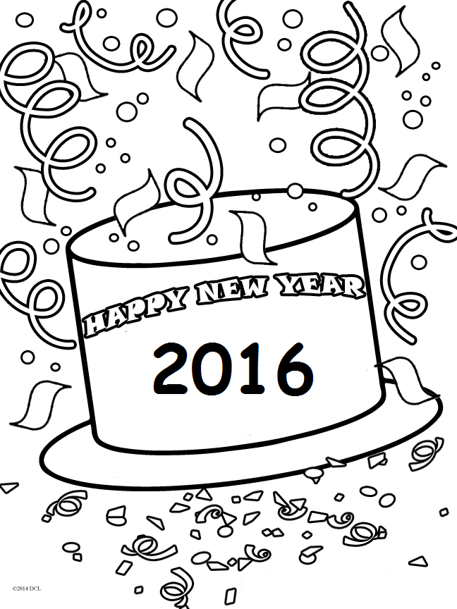 Source Special Day New Year Coloring Pages