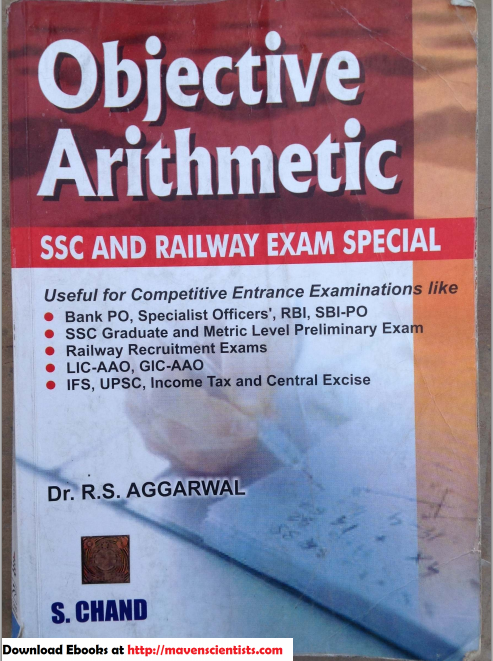 R S Aggarwal - Objective Arithmetic - SSC and Railway Exam Special