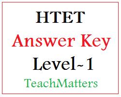 image: HTET Answer Key 2015 Level-1 @ TeachMatters