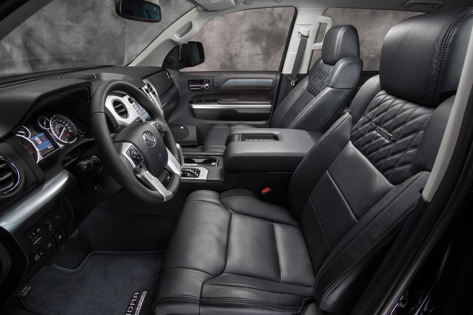 Interior View Of 2015 Toyota Tundra