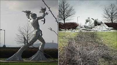 the dreadful Man in Motion sculpture