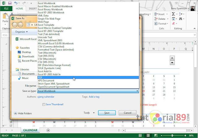 Cara cepat merubah file excel ke PDF