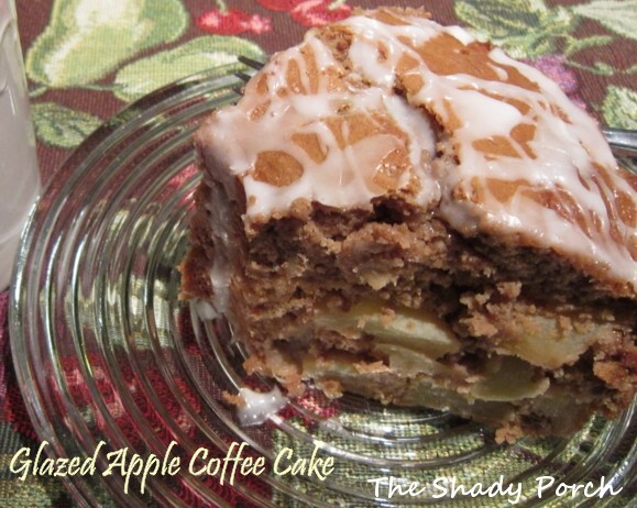 Glazed Apple Coffee Cake boxmix spice cake piefilling apple