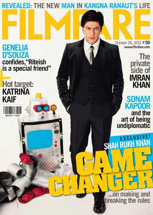 Shahrukh Khan At Filmfare 2011 Magazine Cover