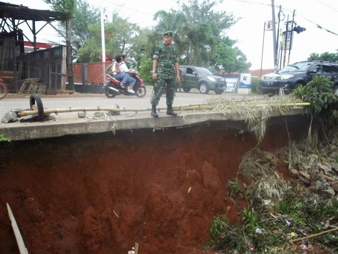 Dandim 0508/Depok Desak Pemkot Perbaiki Jalan Rawan Amblas