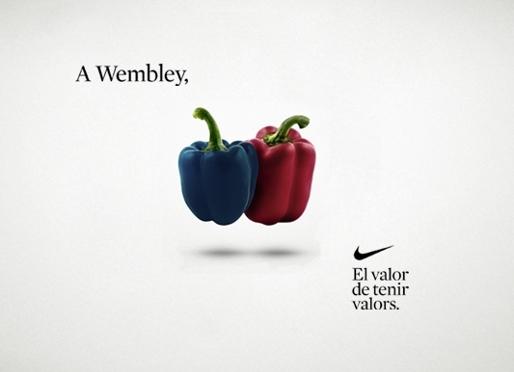 a Wembley amb dos pebrots
