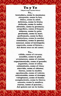 poema de amor tu y yo