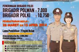 Penerimaan Brigadir Polri 2014 (17.750) Diperpanjang 19 April 2014