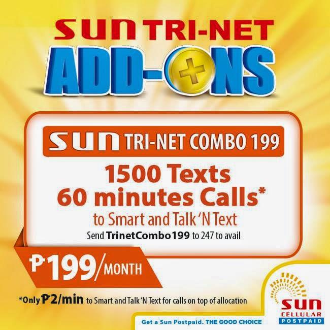 Sun Postpaid Tri-Net Add-Ons