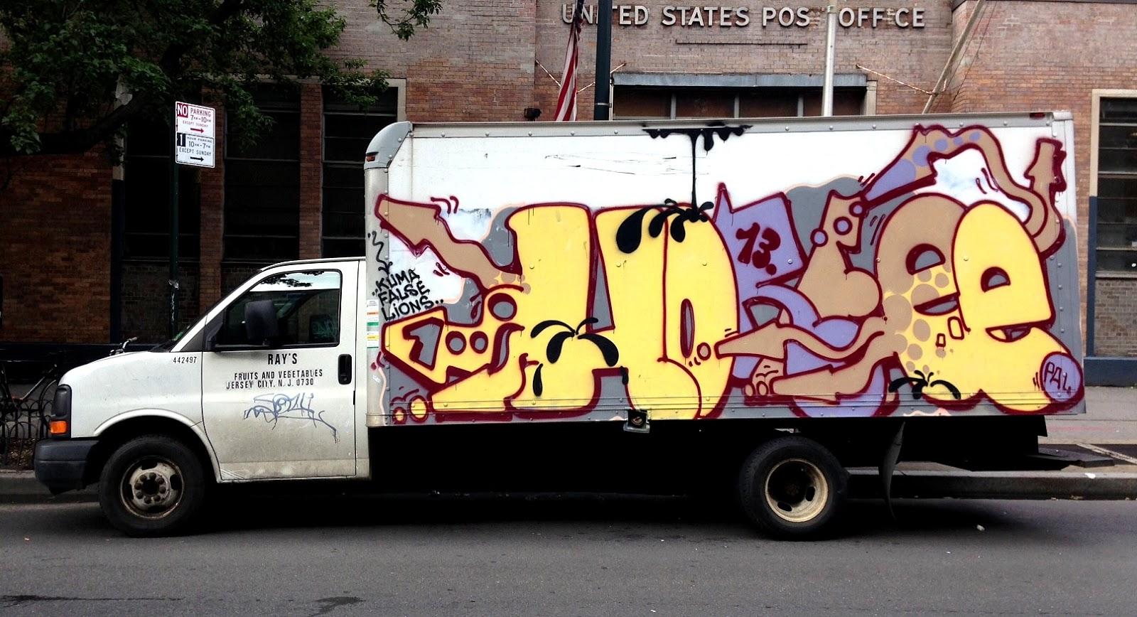 Graffiti truck east village july 2013
