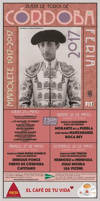 CORDOBA (ESPAÑA) DEDICA SU FERIA A MANOLETE  1917 - 2017.